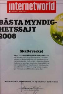 Bästa myndighetssajt 2008