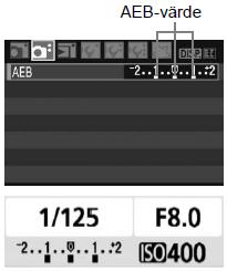 """Bild från kamerans menyval """"AEB""""..."""