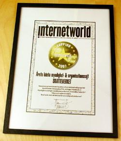 InternetWorld - Bästa myndighetssajt 2007
